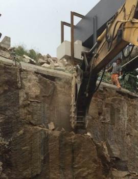 福州市福马路升级改造工程施工现场
